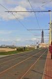 Pistes de tramway, Blackpool image libre de droits