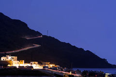 Pistes légères de vitesse à Almeria Image stock