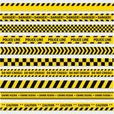 Pistes noires et jaunes Images libres de droits