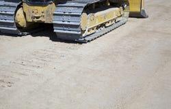 Pistes ou semelles de tracteur à chenilles photos stock