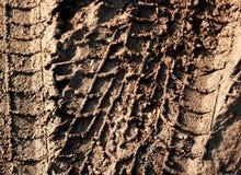 Pistes pour véhicules dans la boue Photos stock
