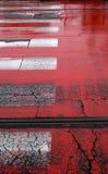 Pistes rouges Images libres de droits