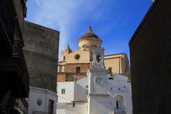 Pisticci detail. Church at Pisticci old town Stock Photography