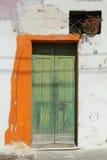 Pisticci door. Detail of a green door in Pisticci Royalty Free Stock Photo