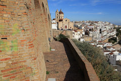 Pisticci landscape. A side view of Pisticci old town Stock Photos