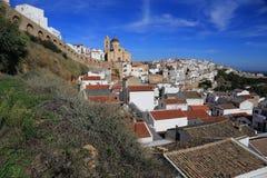 Pisticci landscape. A side view of Pisticci town Stock Photos