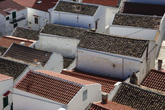 Pisticci town. Roofs at Pisticci old town Stock Photography