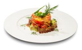 Pisto,西班牙菜炖煮的食物 免版税库存图片