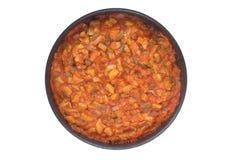 Pisto ( popular spanish dish ). Pisto (popular spanish dish), fried marrow, pepper, onion and tomato Stock Photo