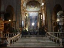 Pistoia - interiore del Duomo fotografia stock libera da diritti