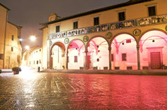 Beautiful Italy Pistoia by night Royalty Free Stock Image