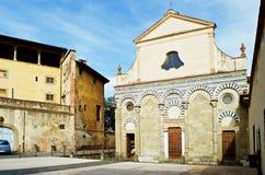 Pistoia old church San Bartolomeo stock images