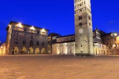 Pistoia - Piazza del Duomo. Piazza del Duomo at sunset in Pistoia, Italy royalty free stock photo