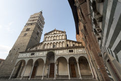 Pistoia (Tuscany), cathedral facade Royalty Free Stock Photography