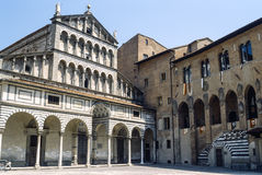 Pistoia (Tuscany) - Duomo. Pistoia (Tuscany, Italy), facade of the medieval cathedral Royalty Free Stock Images