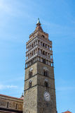 Pistoia, Tuscany, Italy. Bell Tower in Piazza Duomo, Pistoia Stock Photo