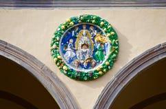 Pistoia Tuscany sztuki ceramiczna dekoracja Zdjęcia Royalty Free