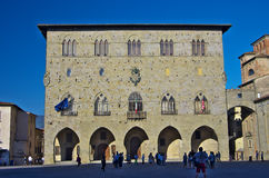 PISTOIA,IT - View of the central square stock photo