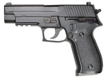 Pistol. Picture of isolated pistol with white background Stock Images