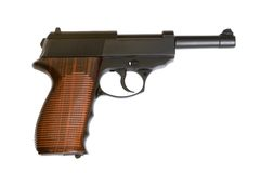 Pistol. Isolated on the white background Royalty Free Stock Image