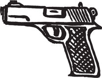 Pistol. Vector image of a hand gun vector illustration