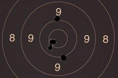 Pistol 25 mäter uppsätta som mål Arkivfoton