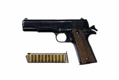 Pistol. The pistol of american`s officers in second world war Royalty Free Stock Photos