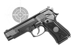 Pistol-airsoft. Stock Images