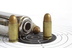 Pistol and ammunition Stock Image
