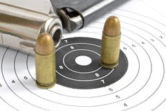 Pistol and ammunition Stock Photos