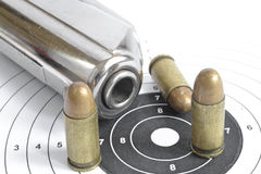Pistol and ammunition Royalty Free Stock Photography
