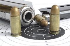 Pistol and ammunition Stock Photo