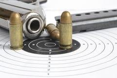 Pistol and ammunition Royalty Free Stock Image