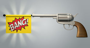 Pistol Bang Flag Stock Image