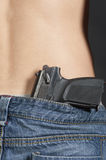 Pistol belt jeans guy Royalty Free Stock Photo