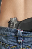 Pistol belt jeans guy Stock Photo