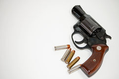 Pistol and Bullets Royalty Free Stock Image