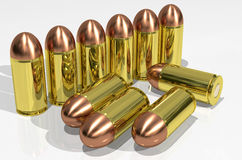 Pistol cartridges Royalty Free Stock Photography
