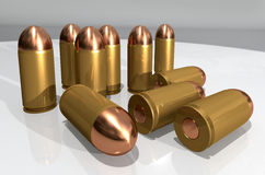 Pistol cartridges Royalty Free Stock Photos
