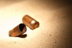 Pistol Cartridges Stock Photography
