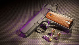 Pistol with cartridges Royalty Free Stock Photos