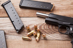 Pistol with Clips Stock Photography