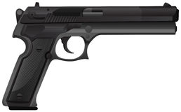 Pistol. Close up  pistol gun in modern design Stock Photography