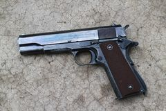 U.S. Army Pistol Colt 1911A1 Stock Photo