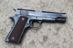 U.S. Army Pistol Colt 1911A1 Royalty Free Stock Image