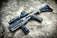 Pistol with Conversion kit Stock Images