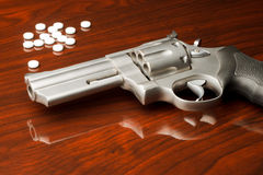 Pistol Drugs Royalty Free Stock Photo