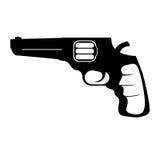Pistol för borgerligt försvar, militär utrustning stock illustrationer