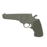 Pistol för borgerligt försvar, militär utrustning royaltyfri illustrationer