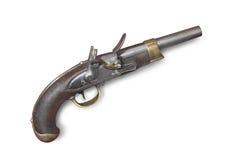 pistol för tryckspruta för 19 århundrade flinta fransk Arkivbild